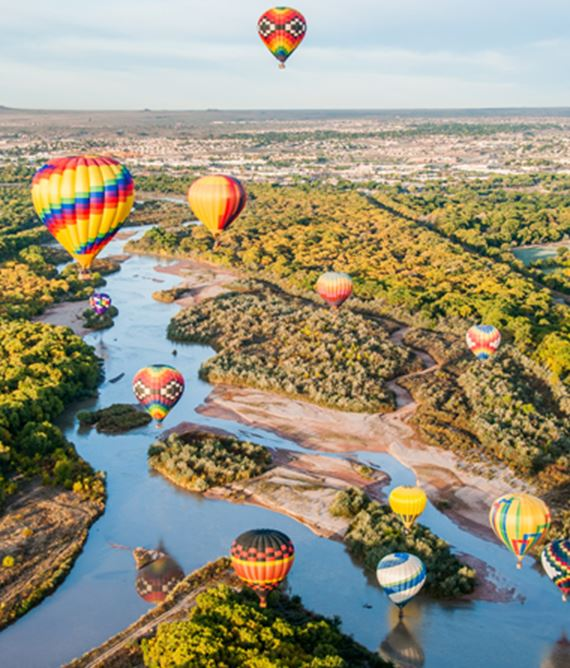 Balloons over the rio grand